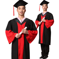 Doctoral degree gown for university graduates wholesale Doctor Degree gown wear of University graduation ceremony