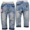 3868 novo bebê meninos calças de brim do bebê primavera ou no outono de jeans luz azul casuais calças jeans calças do bebê