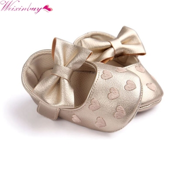 2017 PU Leather Baby Girl Shoes Moccasins Moccs Shoes Bow Fringe Soft Soled Non-slip Footwear Crib Shoes