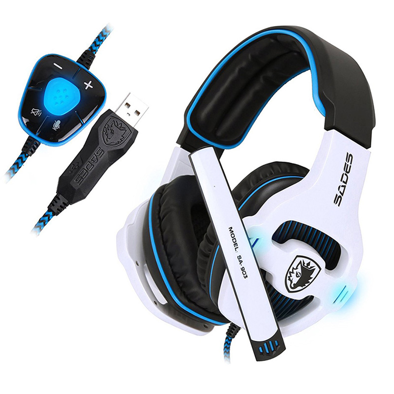 SADES Professional Gaming Headset 7 1 PC Casque Gaming Gamer Headset Surround 7 1 Headphone USB