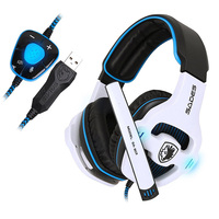 SADES Professional Gaming Headset 7.1 PC Casque Gaming Gamer Headset Surround 7.1 Headphone USB With Microphone For Computer