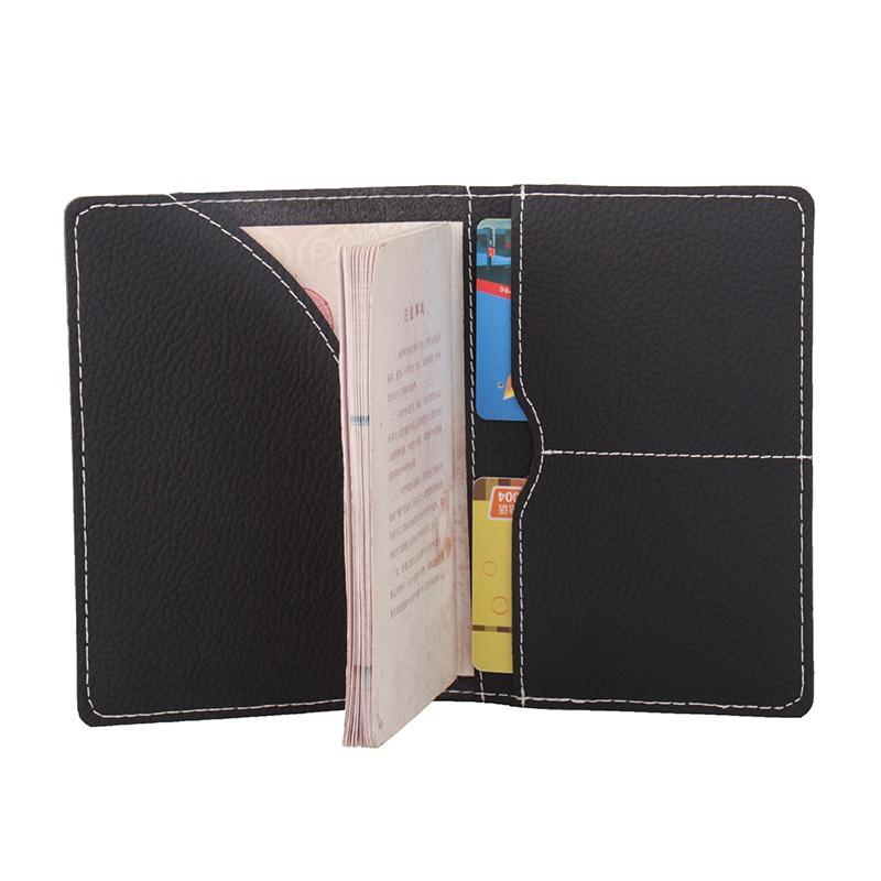Microfiber Leather Hot Sale Passport Covers Solid Credit Id Card Folders Handmade Passports Holder (customization available) цены