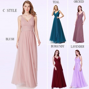Image 3 - Bridesmaid Dresses 2020 Ever Pretty 5 Style Womens Fahion A line V Neck Elegant Long Chiffon Wedding Party Gowns