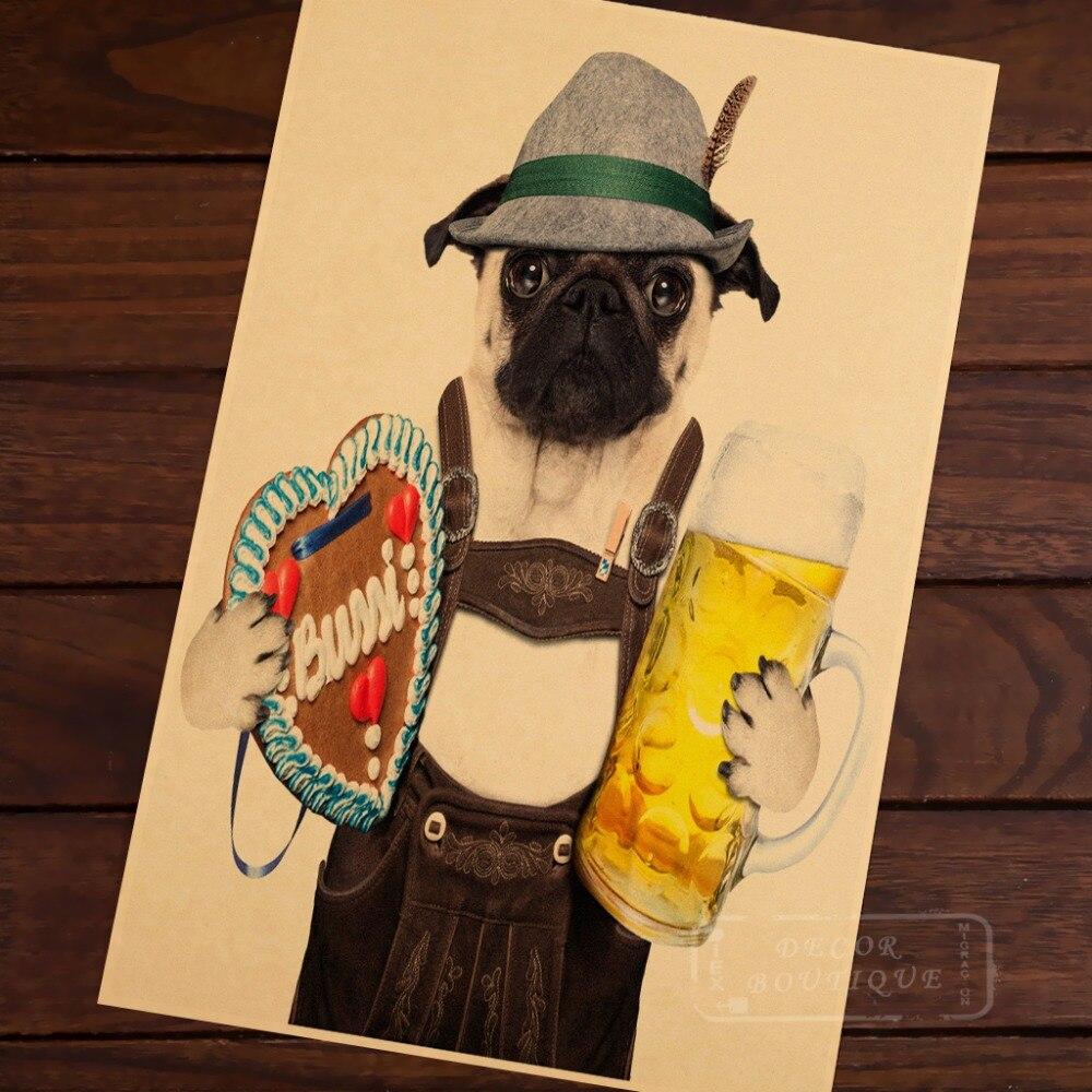 Cowboy Pugs Dog Creative Map illustration Classic Vintage Retro ...