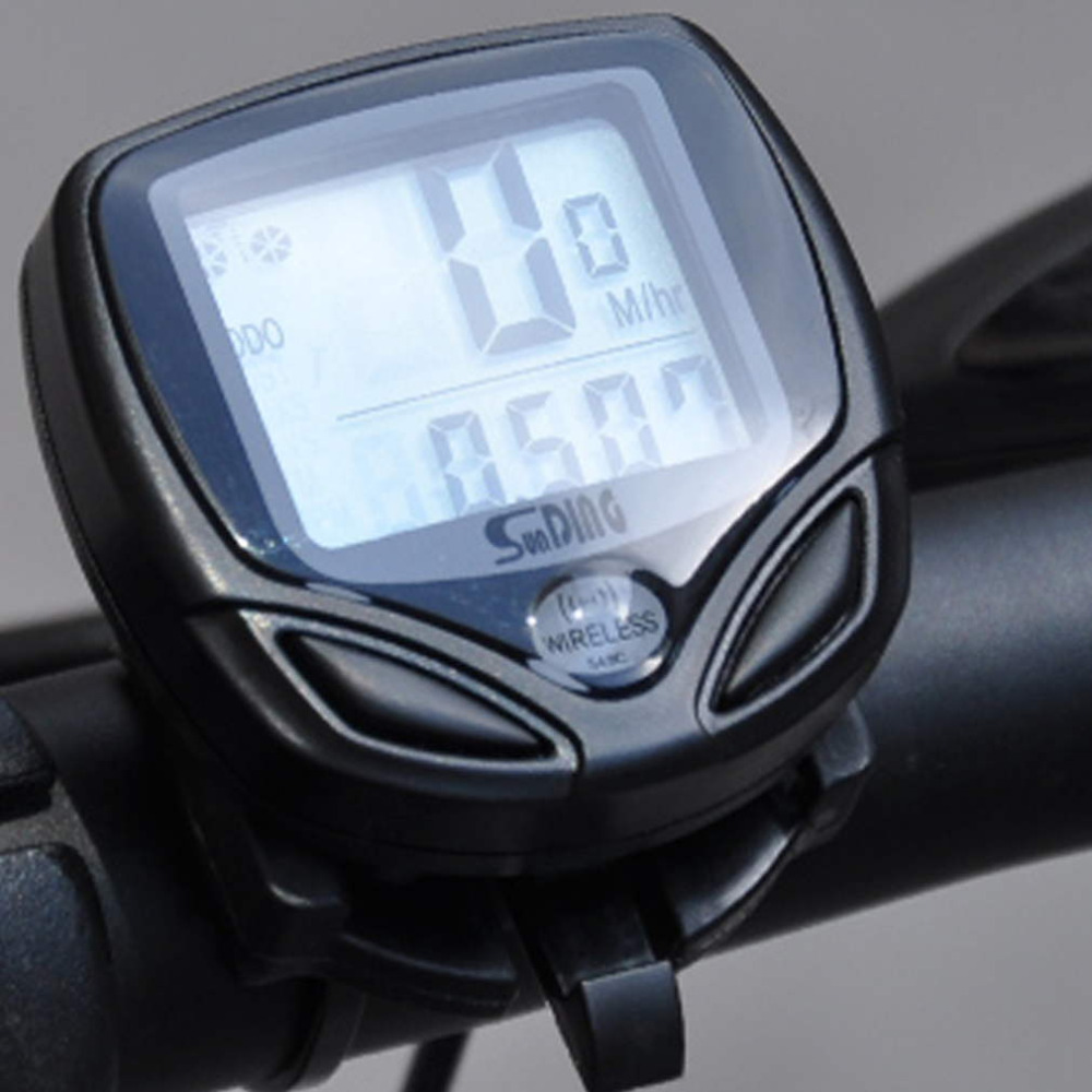 цены на 1pcs Bicycle Meter Speedometer Wireless digital LCD Cycle Computer Bicycle Odometer For Bike drop shipping  в интернет-магазинах