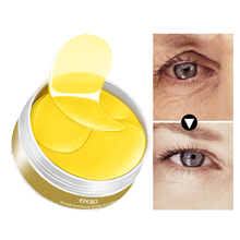 60Pcs Gold Eye Mask Collagen Patches for the Care Remove Dark Circle Puffiness Bag Anti Aging Wrinkle Face