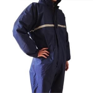Image 5 - 1個防水防風シャムレインコートオーバーオール電動オートバイファッションレインコートの男性と女性レインスーツレインウェア