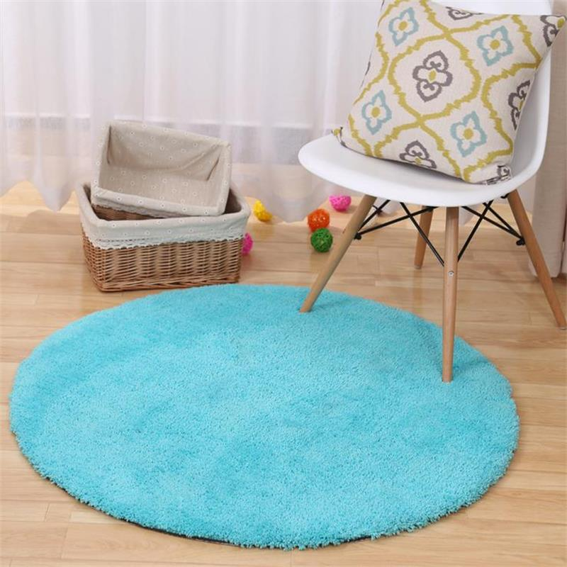 Modern Solid Round Carpets For Living Room Children Play Tent Floor Mat Bedroom Rugs And Carpets Computer Chair Area Rug/Carpet-in Carpet from Home u0026 Garden ... & Modern Solid Round Carpets For Living Room Children Play Tent ...