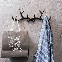 Small Creative Antlers Hooks Wall Rack for Living Room Hat/bag/key/jewelry Rack Household Decor Hooks Multi purpose Wall Hook