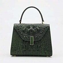 high quality women leather handbags crocodile pattern women handbag genuine leather famous designer fashion lady shoulder bag