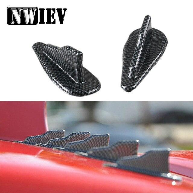 NWIEV Auto samochód na dachu samochodu płetwy rekina Spoiler skrzydło dla Mazda 3 6 CX-5 Honda Fit CRV Jeep Wrangler Grand cherokee Subaru Impreza XV