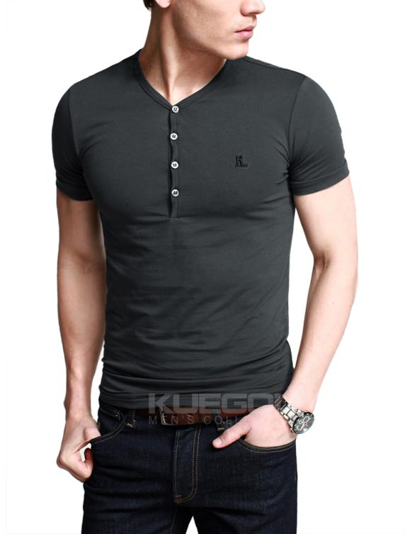 Korean Style Men 2014 Designer Henley Neck Brand T Shirts Shirts ...