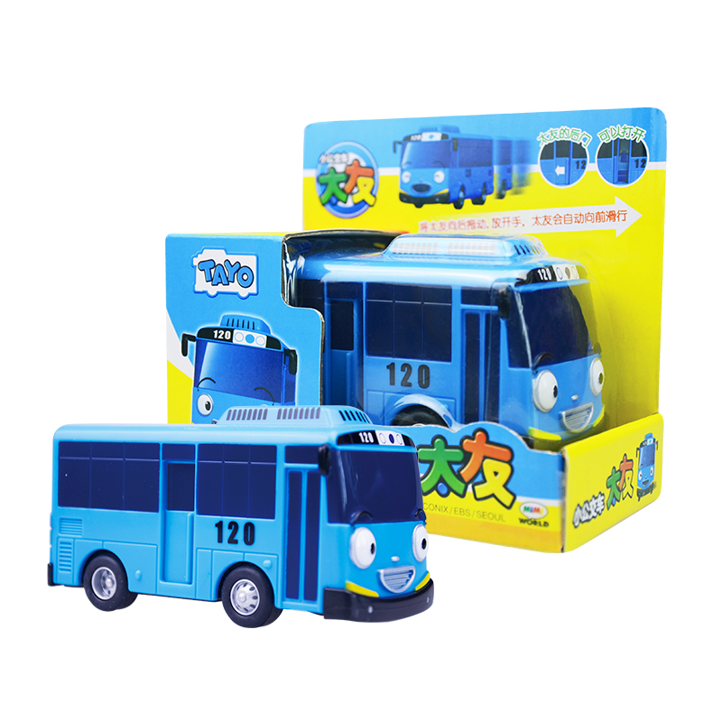 TAYO  Little Bus Model Cars Kids Miniature Toys Plastic Cartoon CITO GANI LANI NURI PAT ROGI Bus Toys For ChildrenBirthday Gift