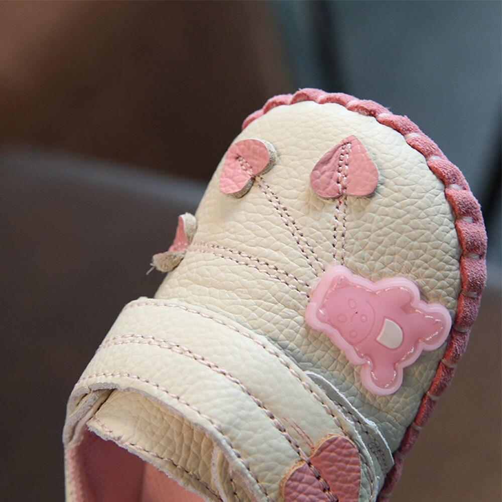 Skórzane buty dla niemowląt Noworodki Miękkie dno Letnie - Buty dziecięce - Zdjęcie 5
