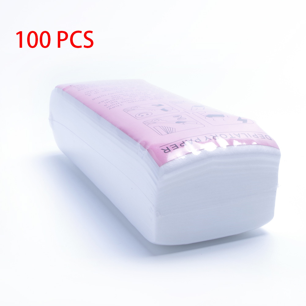 100pcs Removal Nonwoven Body Cloth Hair Remove Wax Paper Rolls High Quality Hair Removal Epilator Wax Strip Paper Roll
