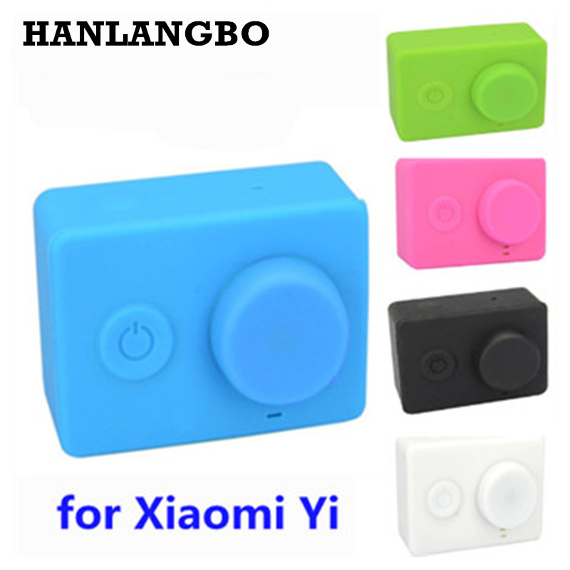 for Xiaomi Yi Dustproof Soft Silicone Case Protective Sport Camera Lens Cap Cover Box XiaoYi Action Camera Accessories