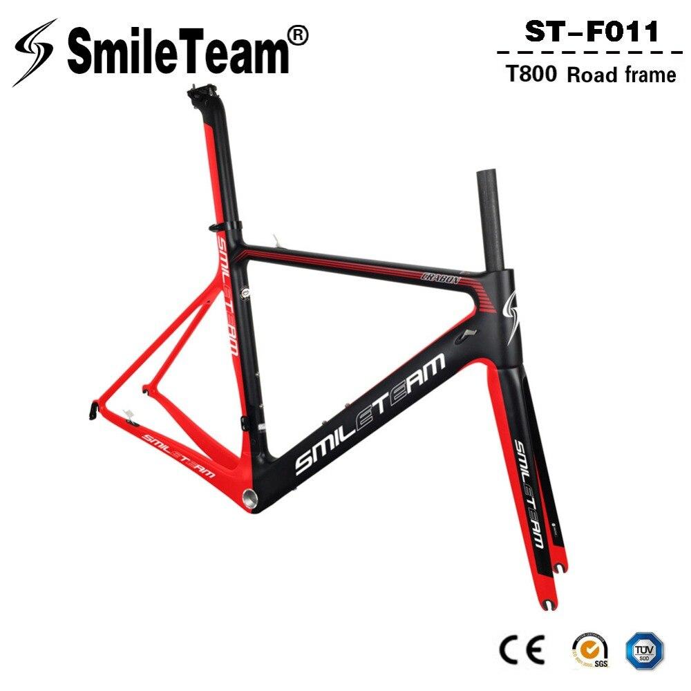 Smileteam 2018 New Model Aero Carbon Fiber Bicycle Frame Di2 & Mechanical Racing Bike Carbon Road Frameset For Carbon Road Bike smileteam 2018 new carbon fiber road bike frame di2