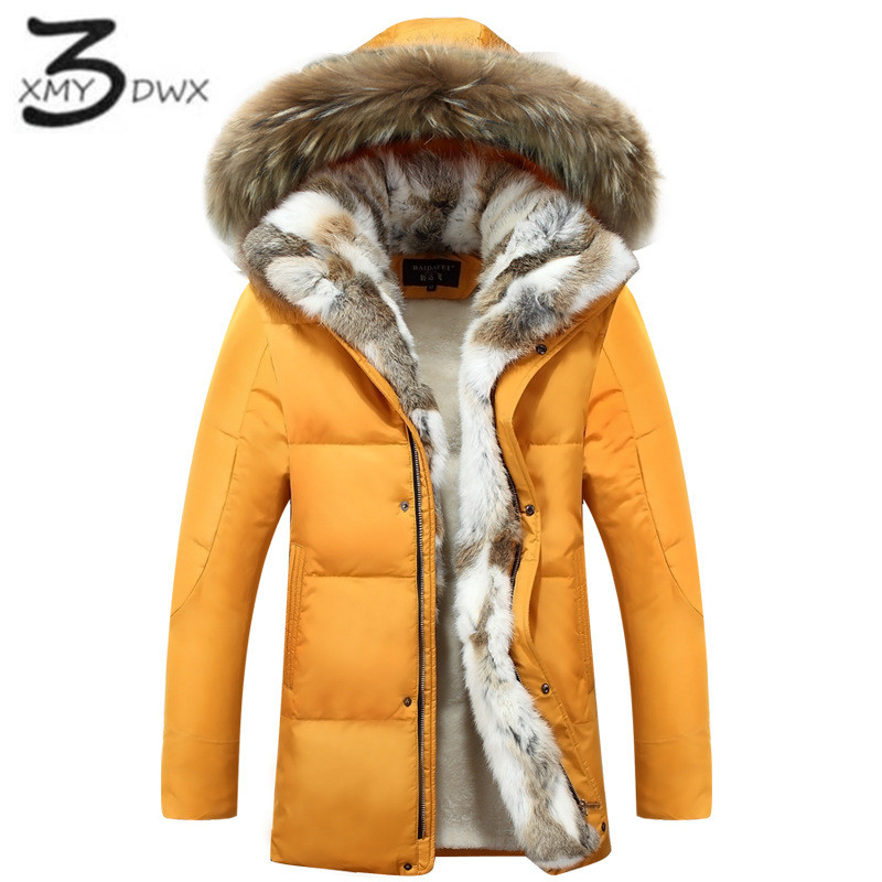 XMY3DWX Large siz S-5XL men thickening warm winter Down jacket/male slim fur in from the cold warm long cotton-padded clothes