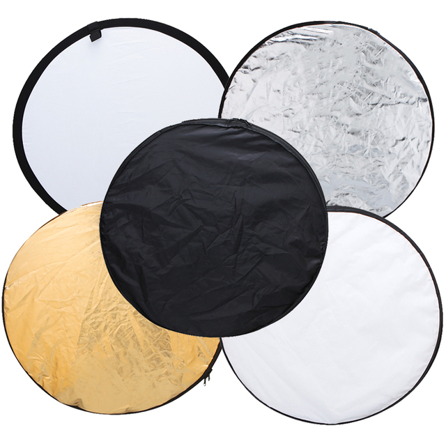 Ulanzi 24″ 60cm 5 in 1 Portable Collapsible Light Round Photography Reflector for Studio Multi Photo Disc