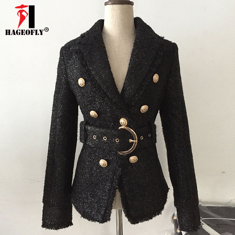 Women/'s Lapel Metal Gold Blazer Shiny Double Breasted Coat Outwear Jackets