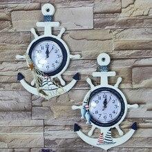Home decoration Mediterranean Sea sailing wall clock