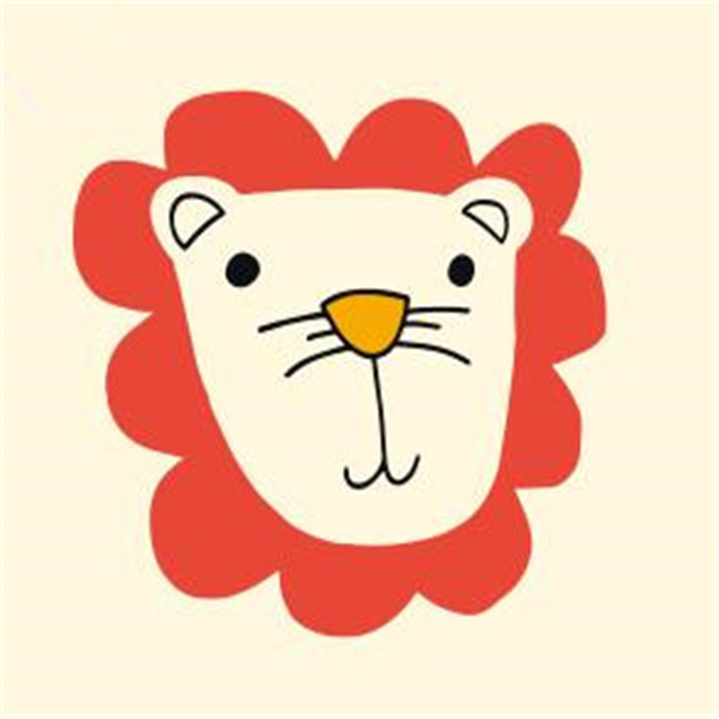 Cute lion head pvc patch deal with it iron on transfers for clothing heat transfer patches for clothes baby t shirt stickers