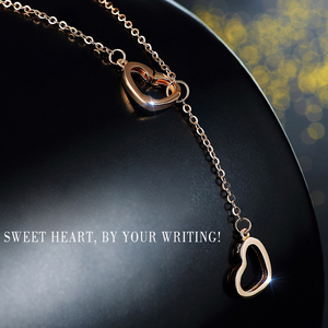 Image 4 - XXX Pure 18k Gold Necklace Pendant For Women Heart Charm Chain Fine Jewelry Elegant Romantic Fashion Real True Solid Party
