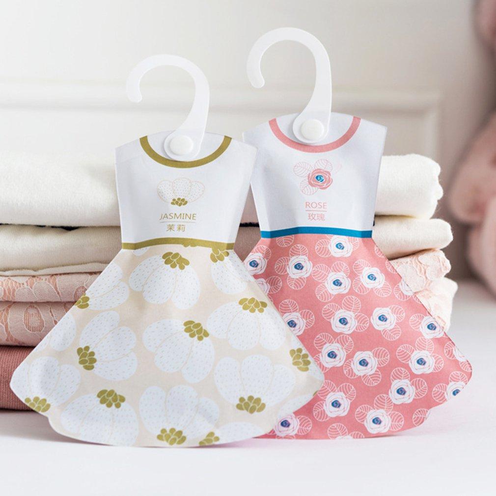 5 Types Creative Hook Style Incense Bag Wardrobe Princess Skirt Shape Sachet Anti-mildew Pest Control Aroma Fragrance Package