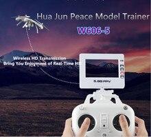 Hua Jun Peace model trainer w606-5 professioal rc drone 6-Axis Gyro 5.8G FPV 2.0MP HD Camera Remote Control Quadcopter VS Q333-A