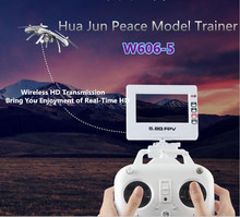 Hua Jun Peace model trainer w606-5 professioal rc drone 6-Axis Gyro 5.8G FPV 2.0MP HD Camera Remote Control Quadcopter VS Q333-A