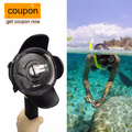 EACHSHOT Diving Dome Port for Xiaomi Yi Action camera Portable Underwater Photography Lens Housing monopod accessory for Xiaoyi
