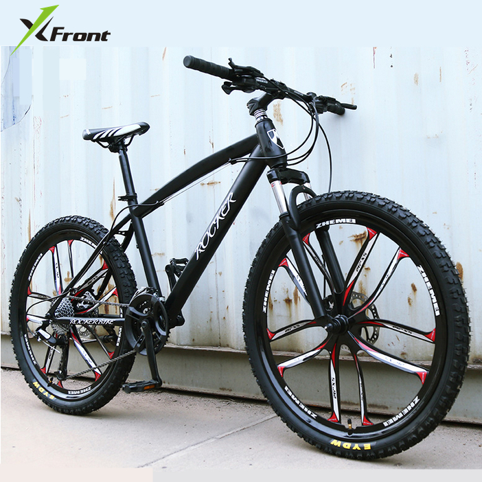 New X-Front Brand 24/26 Inch Carbon Steel Frame 24/27 Speed Outdoor Downhill Bicycle Mountain Bike Disc Brake MTB Bicicleta