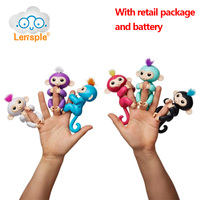 Lensple 6 Color Fingerlings Interactive Baby Monkeys Smart Colorful Fingers Llings Smart Induction Toys Best