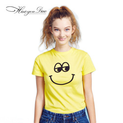2016 hao you duo the new sweet candy colored font b smiley b font face shirt.jpg 250x250