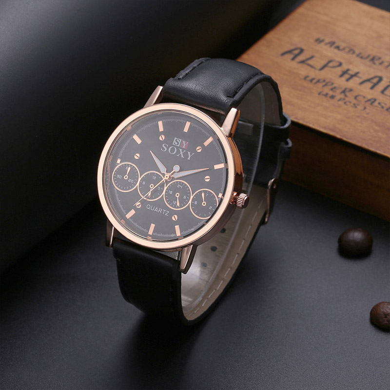 453a526cd New SOXY Brand Watch Fashion Cool Sport Watches Men Watch Luxury Leather  Quartz Watch Hombre relogio masculino TME0039