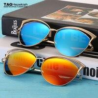 retro Hot Sale 2017 polarized sunglasses women Cat Eye brand goggles Sun glasses Classic UV400 Sunglasses Free delivery Metal