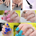 24pcs/set Cosmetic Glitter Gel Acrylic Velvet Powder Nail Art Salon Tips Polish Fingernails DIY Nail Decorations