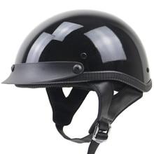 Stile professionale DOT chopper bike moto casco mezzo del fronte del casco da moto