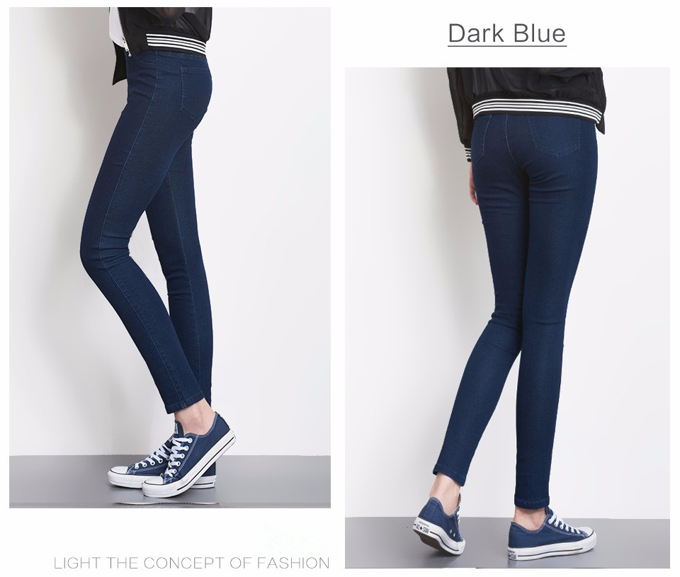 Women Jeans Plus Size Casual high waist summer Autumn Pant Slim Stretch Cotton Denim Trousers for woman Blue black 4xl 5xl 6xl 10