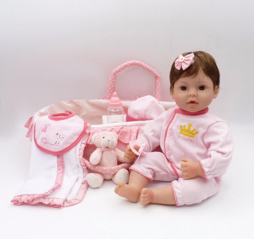 Изысканный 41 см bebe reborn Детские игрушки куклы и спальный мешок подарок 3/4 силиконовые куклы для девочек подарок для детей и мальчиков Этничес