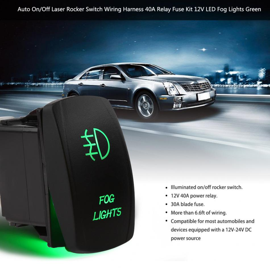 Led Switch Wiring Relay Auto On Off Laser Rocker Automotive Harness Mercedes Aeproduct