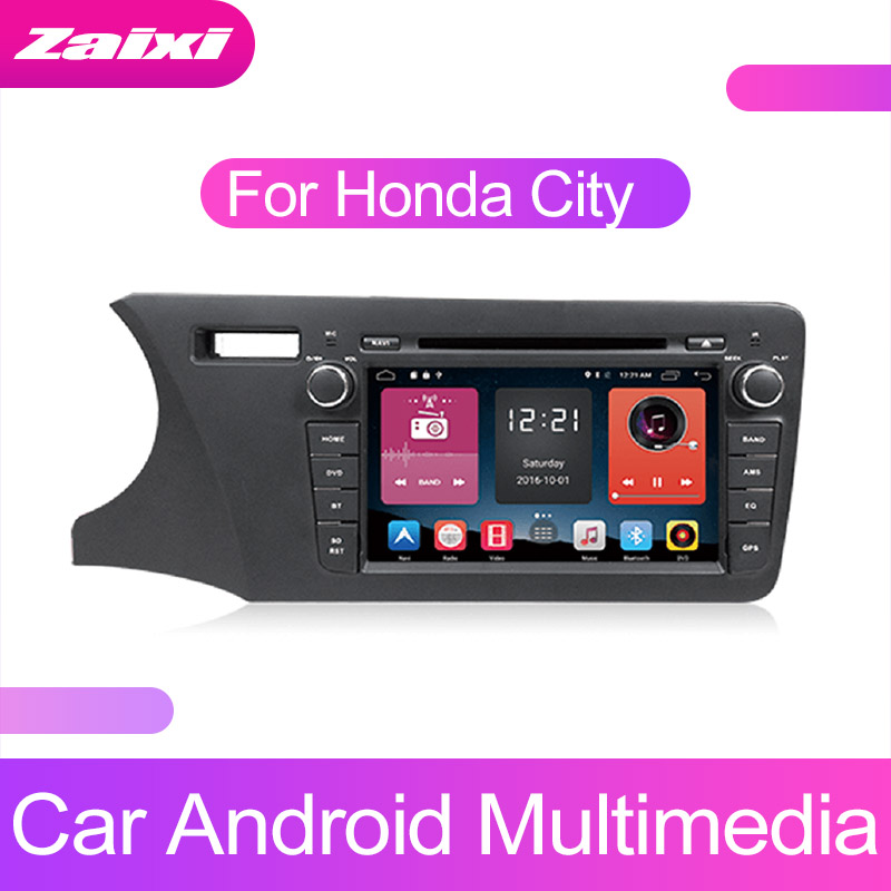 ZaiXi Touch screen Android car Audio for Honda City 2014~2019 support GPS navi Ipod BT radio mic Media Navigation system