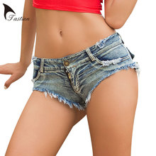 TASTIEN Brand Women Shorts Summer Low Waist Cotton Solid Straight Sexy Shorts New Fashion Hot Party Jeans Women Shorts Clubwears