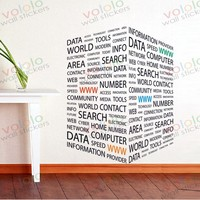 Free Shipping Wall Stickers Wholesale And Retail Wall Decor PVC Material Decals Wallpaper Mural Characters Internet