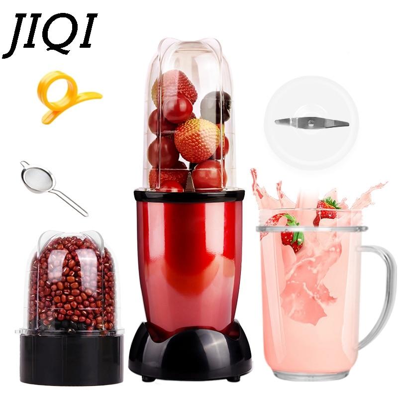 JIQI Мини Портативная электрическая соковыжималка, блендер для детского питания, миксер для молочных коктейлей, мясорубка, многофункциональная машина для приготовления фруктового сока, ЕС, США