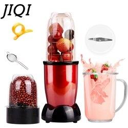 Jiqi mini liquidificador espremedor elétrico portátil comida para bebê milkshake mixer moedor de carne multifuncional máquina do fabricante de suco frutas da ue eua