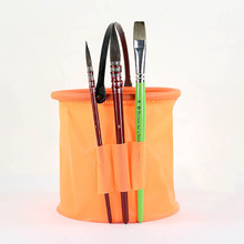 1PCS Brush Washing Bucket Plastic Buckets Shrink Wash Pen Barrel Watercolor Art Supplies watercolor sketchbook water color