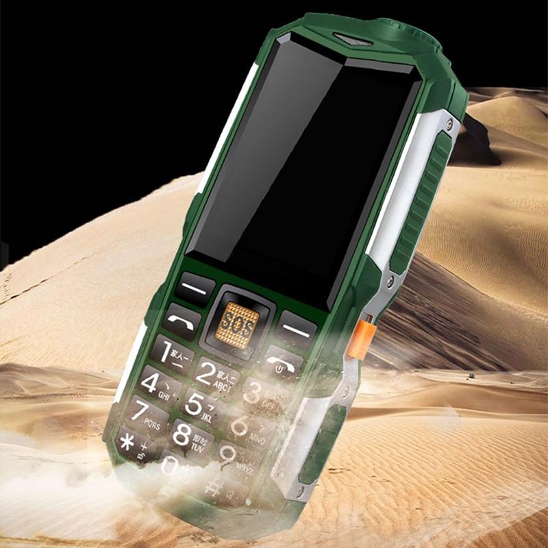 L18 antichoc 3.5mm écouteur Jack batterie externe lampe de poche SOS vitesse cadran sans fil FM Radio robuste Senior téléphone Mobile P033