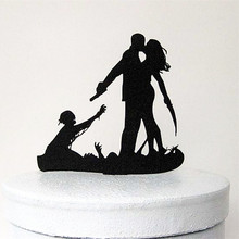 Personality Wedding Decoration/Unique Cake Topper/Silhouette Acrylic cake topper/Engagement Favor Supplies