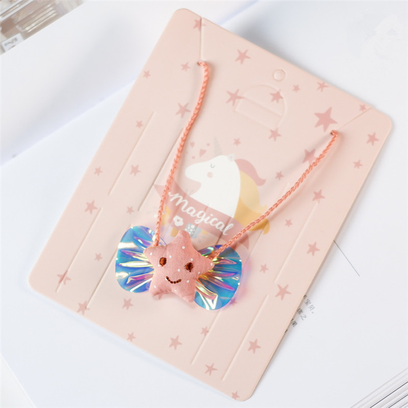 Korean Handmade Cute Cartoon Fabric Bow Knot Star Princess Kids Children Girl Necklace Apparel Accessories HZPRCGNL058F in Pendant Necklaces from Jewelry Accessories